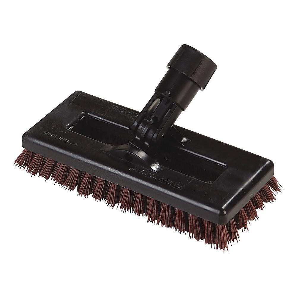 "Swivel Scrub Brush, DuPont Tynex A Bristles, 8"" Block, Rust, Dozen"