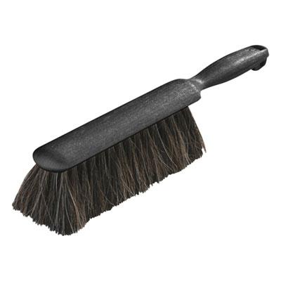"Counter/Radiator Brush, Horsehair Blend, 8"" Brush, 5"" Handle, Black"
