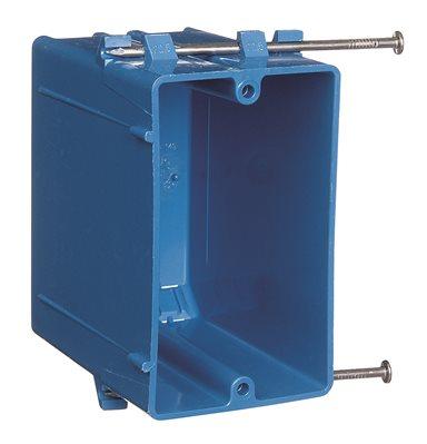 NON METALLIC 1 GANG ZIP BOX BLUE SWITCH BOX