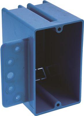 NON METALLIC 1 GANG ZIP BOX WITH BRACKET 18 CU. IN.