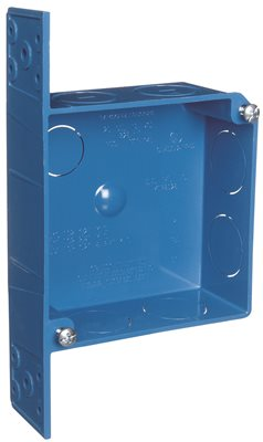 NON METALLIC 4 IN. SQUARE OUTLET AND SWITCH BOX