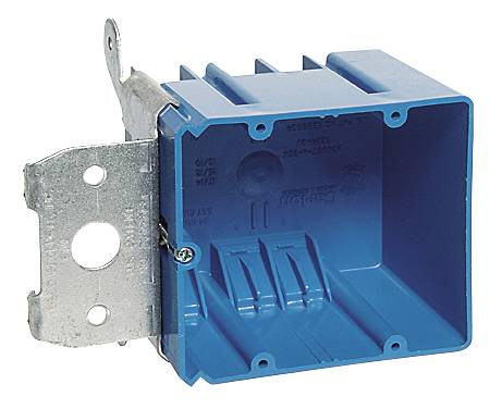 2 GANG ADJUSTABLE ELECTRIC BOX WITH SIDE PORT