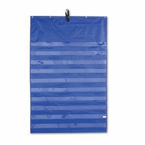 Essential Pocket Chart, 10 Clear & 1 Storage Pocket, Grommets, Blue, 31 x 42