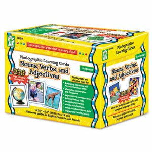 Photographic Learning Cards Boxed Set, Nouns/Verbs/Adjectives, Grades K-12