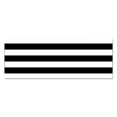 """Straight Borders, 3"""" x 36 ft, Black/White, 12/Pack"""