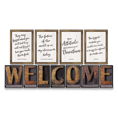 """Bulletin Board Sets, Industrial Chic, 11 1/2"""" x 17"""", 11 Pieces"""