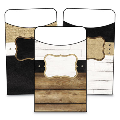 """Library Pockets, Industrial Chic, 3.25"""" x 5.25"""", 36/Pack"""