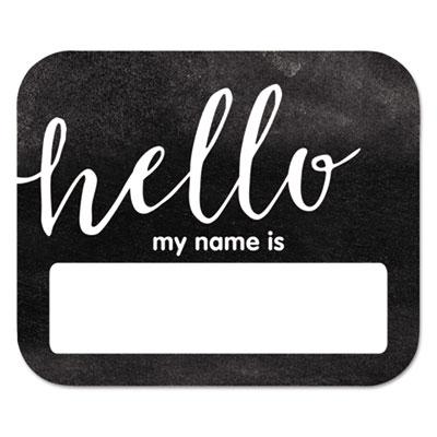 "Name Badge Kits, Horizontal, 3"" x 2.5"""", Black/White, 40/Pack"