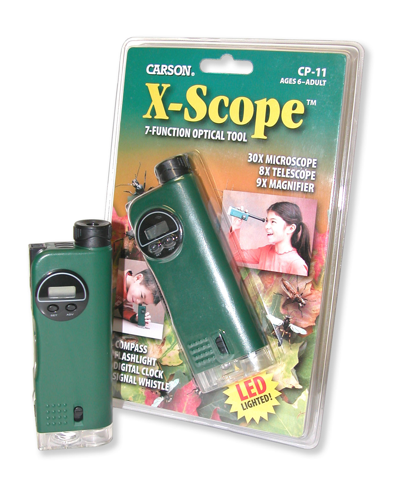 Carson XScope Childs Microscope Telescope Magnifier MultiTool