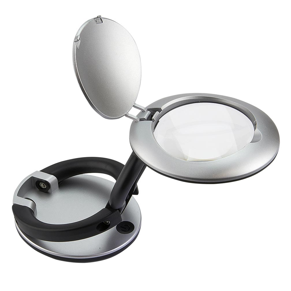 Carson 2.25 Inch LED LIGHTED Folding Magnifier 3x