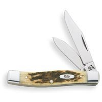 Case 77 Folding Pocket Knife, 2-1/2 in L Clip, 1-3/4 in L Pen, Amber