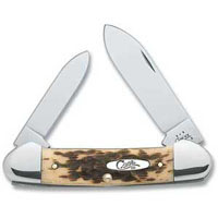 Case 263 Folding Pocket Knife, 3-5/8 in Closed L, Amber, Chrome Vanadium Steel