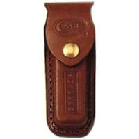 Case 09027 Leather Sheath, For Use With All Medium and Large Size Case Folding Knives, Leather, Copper Snap Top