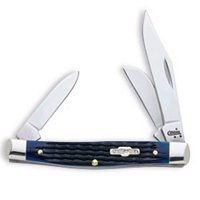 Case 2806 Medium Stockman Folding Pocket Knife, 3-1/4 in Closed L, Blue, Tru-Sharp Surgical Steel