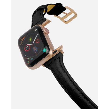 CASERY WB-4201 BLACK LEATHER BAND FOR APPLE WATCH.
