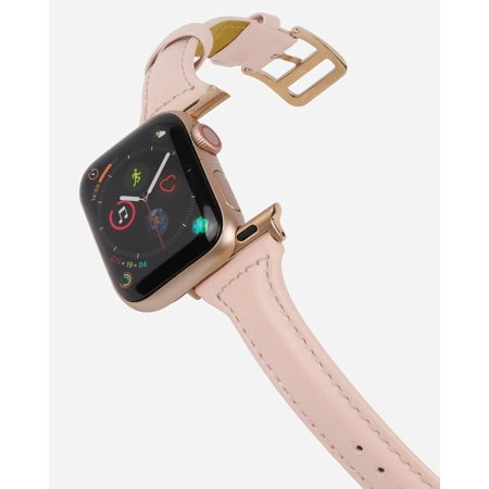 CASERY WB-4202 BLUSH LEATHER BAND FOR APPLE WATCH.