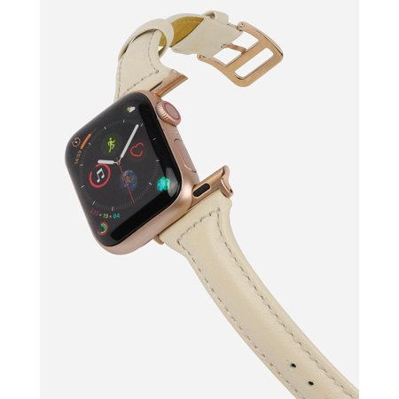 CASERY WB-4203 OFF-WHITE LEATHER BAND FOR APPLE WATCH.