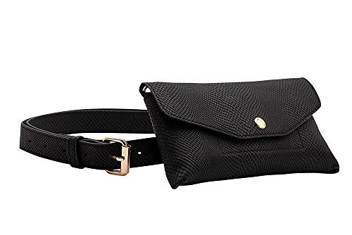 CASERY BG-1003 BLACK CONVERTIBLE FANNY PACK.