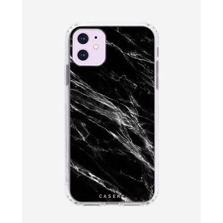CASERY 11H-0297 BLACK MARBLE CASE FOR IPHONE 11.
