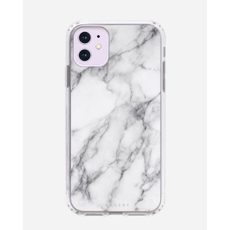 CASERY 11H-0298 NEW WHITE MARBLE CASE FOR IPHONE 11.