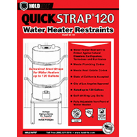 Holdrite QS-120 Strap Support, For Use With 120 gal Water Heaters, Galvanized Steel