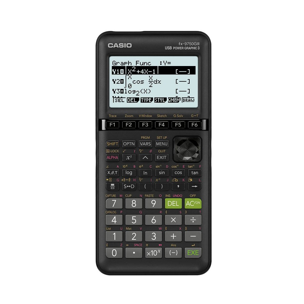 FX-9750GIII 3rd Edition Graphing Calculator, 21-Digit LCD