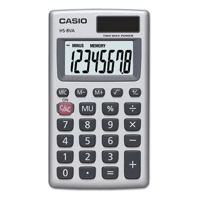 SL-300SV Handheld Calculator, 8-Digit LCD, Silver