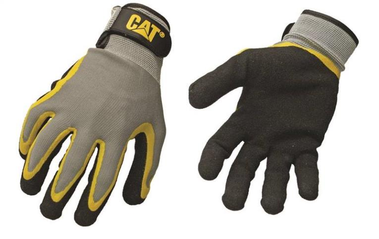 Cat Gloves And Safety CAT017415J  Gloves, Knit Back, Coated Palm, Jumbo