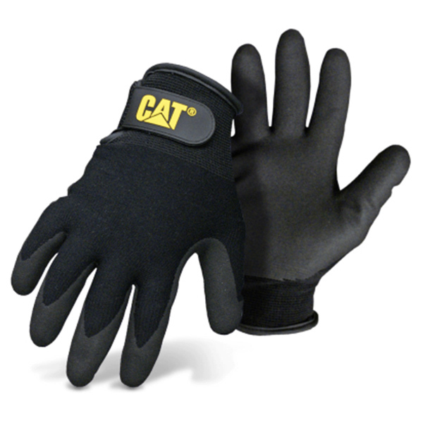 GLOVES NYLON CTD BLACK LARGE