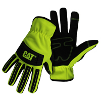 GLOVES MECHANIC HIVIS GREEN XL