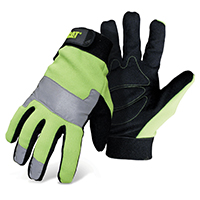 GLOVE HI-VIS PADDED PALM UTIL