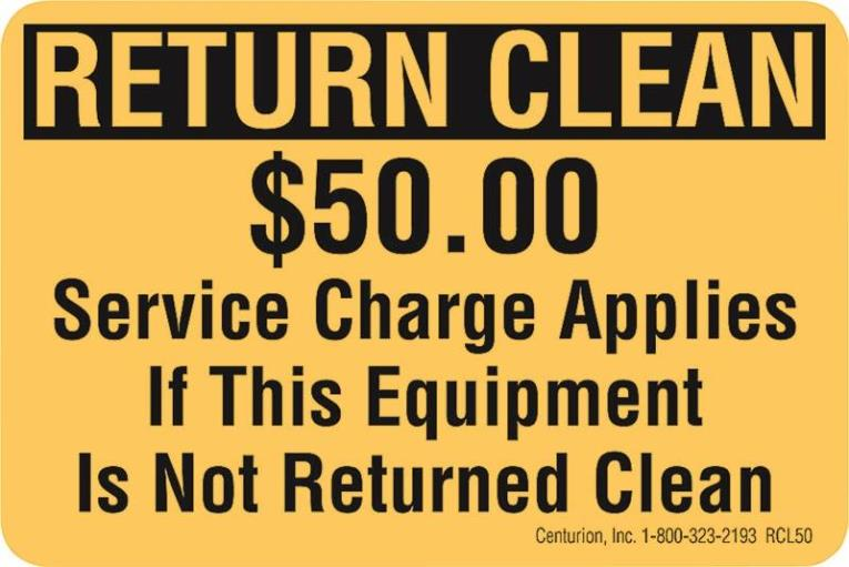 DECAL RETURN CLEAN $50 FEE