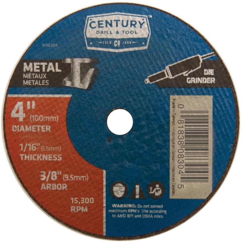 08304 4DX1/16 METAL CUTOFF WHEEL