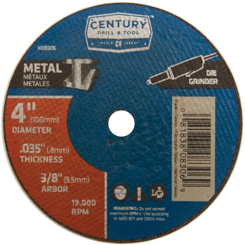 08306 4X.035 METAL CUTOFF WHEEL