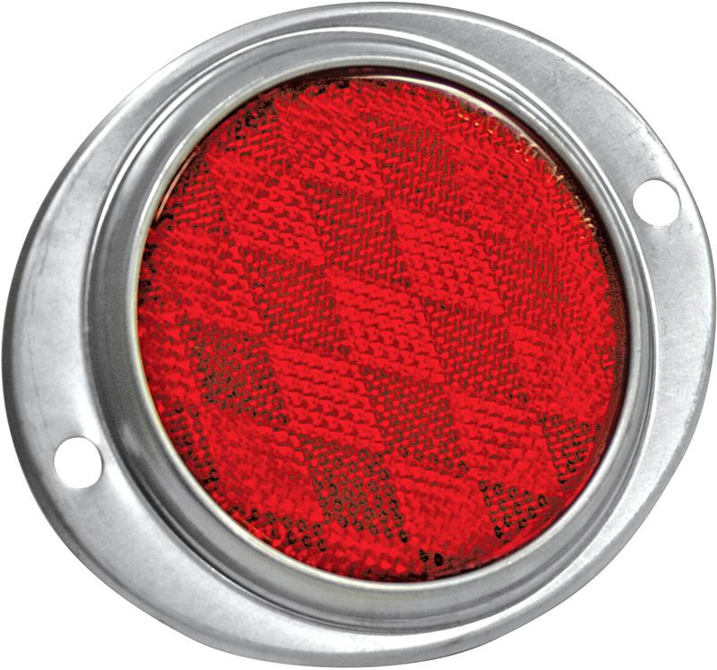 86011 ALUM RED OVAL REFLECTOR