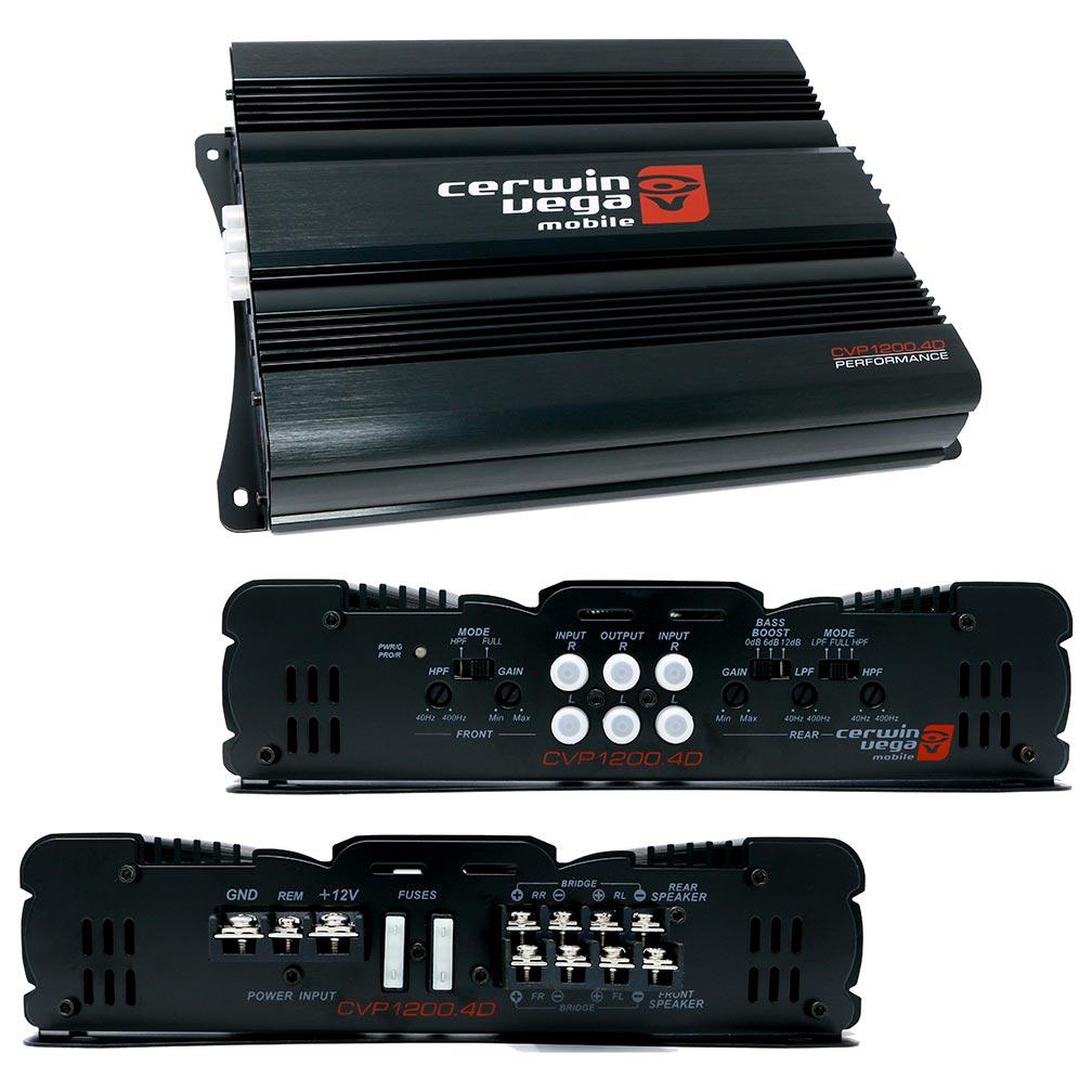 Cerwin Vega 4-Channel Amplifier 1200 Watt MAX