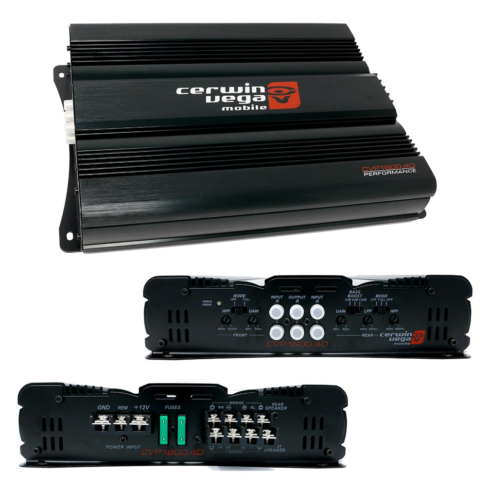 Cerwin Vega 4-Channel Amplifier 1600 Watts MAX