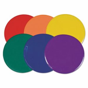"Extra Large Poly Marker Set, 12"" Diameter, Assorted Colors, 6 Spots/Set"