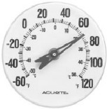 00346 5 IN. WH DIAL THERMOMETER