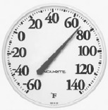 01360 12 IN. WH DIAL THERMOMETER