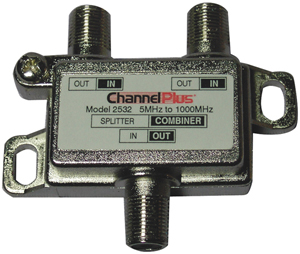 CHANNEL PLUS 2532 SPLITTER/COMBINER (2 WAY)