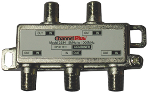 CHANNEL PLUS 2534 SPLITTER/COMBINER (4 WAY)
