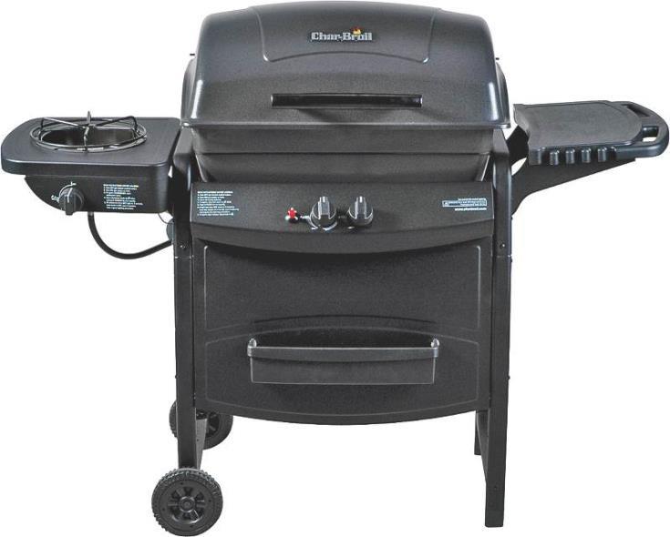 35K BTU Propane Grill With Side Burner