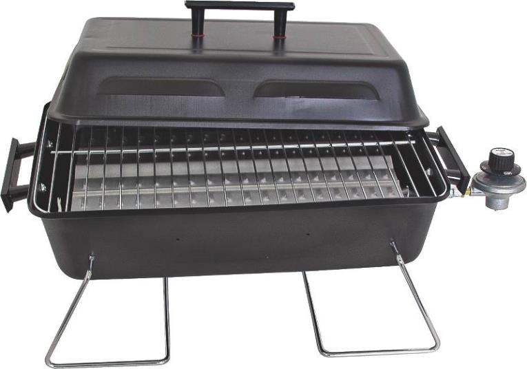 Char-Broil 465133014 Portable Gas Grill, 11000 BTU, LPG, 187 sq-in, Stainless Steel