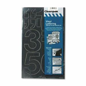 """Press-On Vinyl Numbers, Self Adhesive, Black, 3""""h, 10/Pack"""