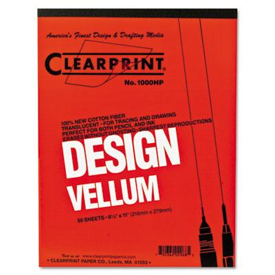 Design Vellum Paper, 16lb, White, 8-1/2 x 11, 50 Sheets/Pad