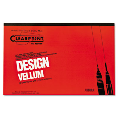 Design Vellum Paper, 16lb, White, 11 x 17, 50 Sheets/Pad