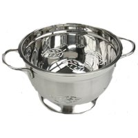 COLANDER - LEAF DESIGN Stainless Steel 5 QT