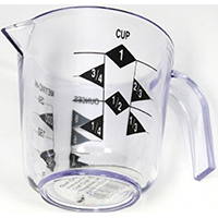 Chef Craft 20789 Measuring Cup, 1 Cup, Plastic, Clear