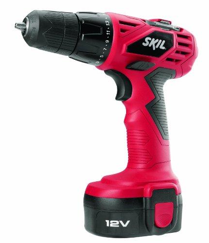 Skil 2240-01 Cordless Drill/Driver, 12 V, Ni-Cd, 3/8 in Keyless Chuck, 0 - 700 rpm